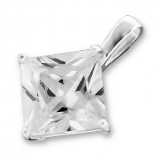 """Stříbrný přívěsek se zirkonem """"WHITNEY"""" na krk. Ag 925/1000"""